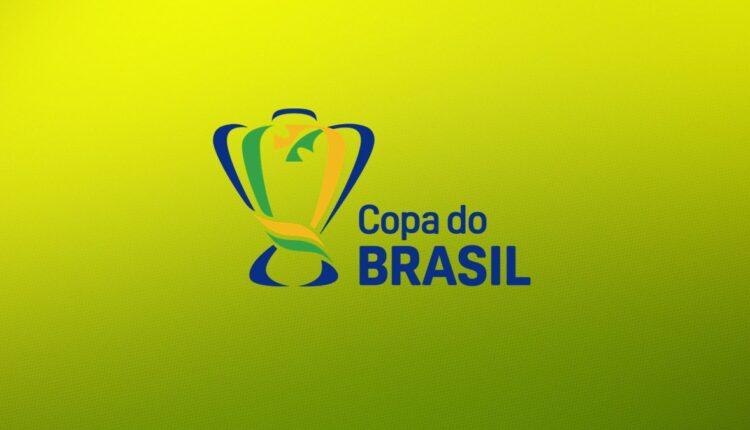 Quartas de final da Copa do Brasil: logo da Copa do Brasil em fundo degradê de amarelo e verde