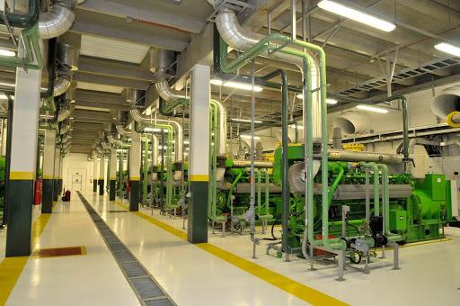 termoelétrica: a imagem mostra o interior da empresa