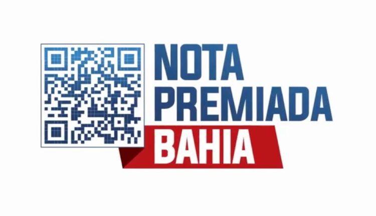 Nota Premiada Bahia: logo da campanha Nota Premiada Bahia