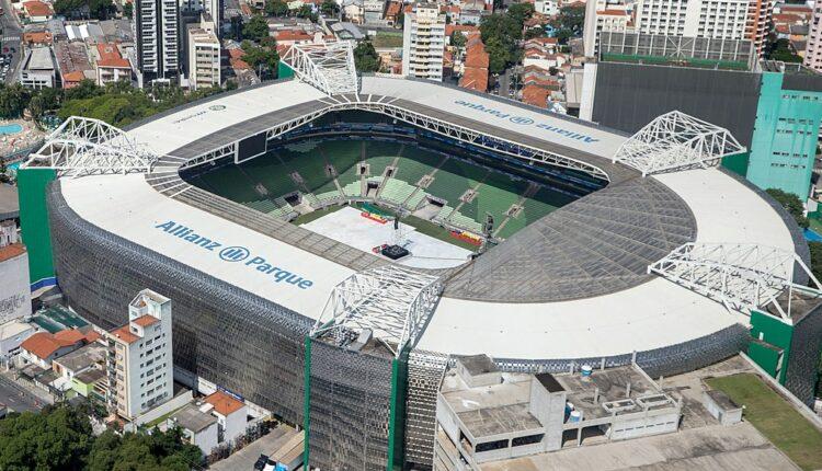 Palmeiras x Universidad Católica: vista aérea do estádio Allianz Parque