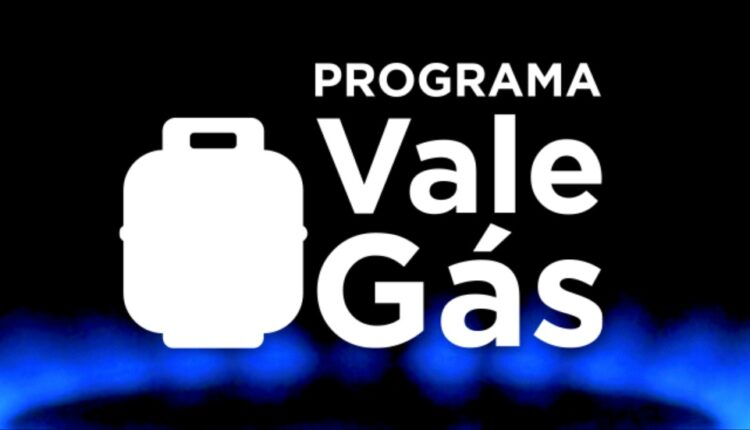 Vale Gás SP: a imagem mostra o desenho de um botijão de gás ao lado do programa